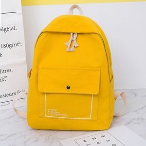 New Yellow backpack